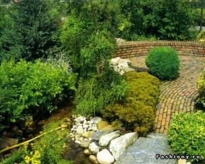 Русский сад. Пейзажный стиль оформления